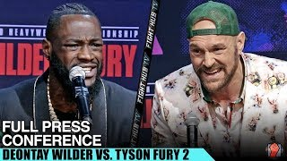 DEONTAY WILDER VS. TYSON FURY 2 - FULL PRESS CONFERENCE & FACE OFF VIDEO