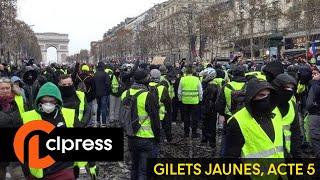 Gilets jaunes Acte 5 : incidents sur les Champs-Élysées (15 décembre 2018, Paris) [4K]