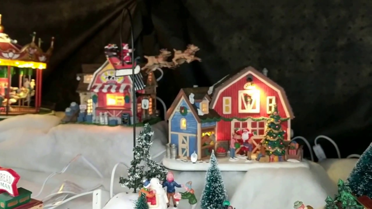 Menards Christmas Village.Lemax Santa Claus Is Coming To Town Animated Village Structure
