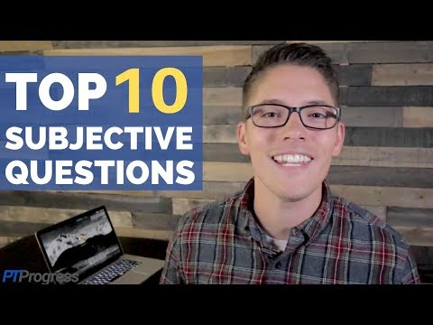 10 Subjective Interview Questions For Physical Therapists