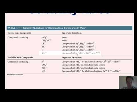 Chapter 4 - Reactions in Aqueous Solution: Part 1 of 6