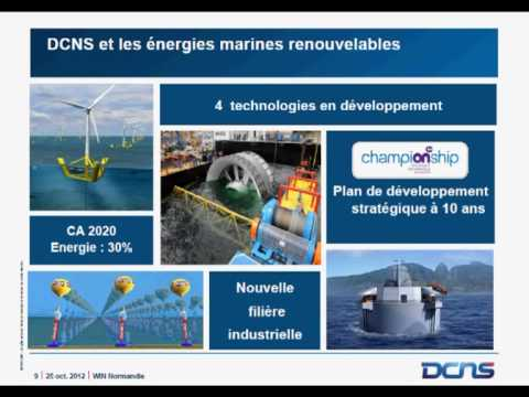 Energies Marines Renouvelables - DCNS Cherbourg