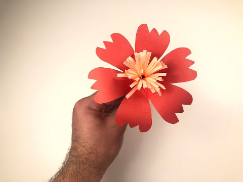 DIY PAPER FLOWER   ORIGAMI LILY   PAPER ART 013
