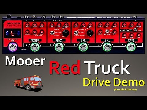 Mooer Red Truck - Drive (Overdrive) Demo