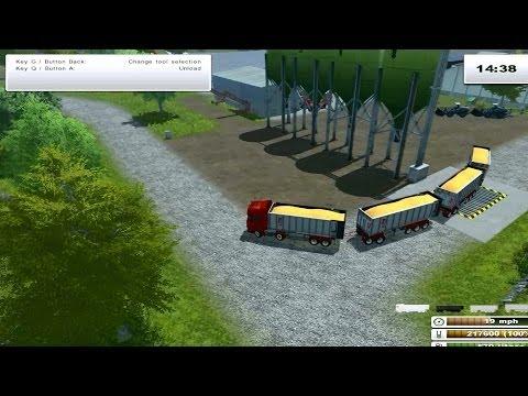 Farming Simulator 2013 - Fliegl Scania mod pack + Fliegl trailers