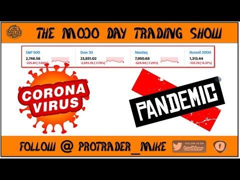 #CORONAVIRUS #DAYTRADING 🧪 THE MOJO #DAYTRADING SHOW Ep.70