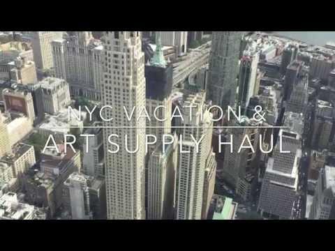 New York City Vacation & Art Supply Shopping