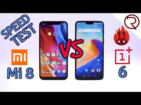 OnePlus 6 VS Xiaomi Mi 8 - SPEED TEST - So fast!