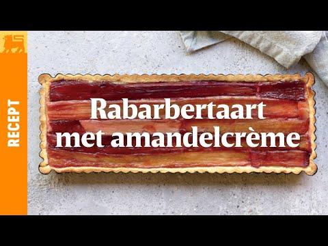 Rabarbertaart met amandelcrème