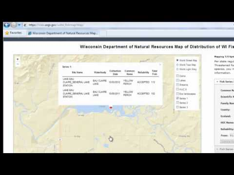 Wisconsin DNR Fish Mapping Tool