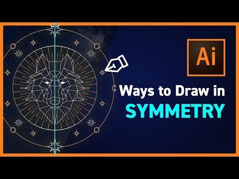 Symmetrical Drawing in Illustrator CC - NEW IN CC 2019!