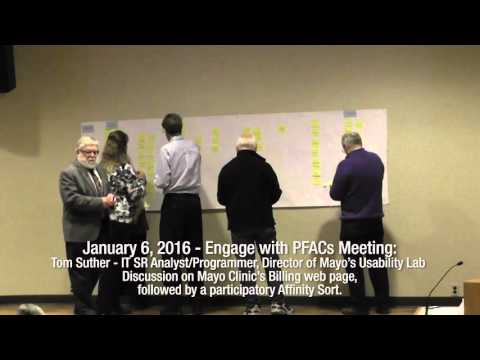 01.06.2016 - Engage with PFACs Meeting: Tom Suther - IT SR Analyst/Programmer