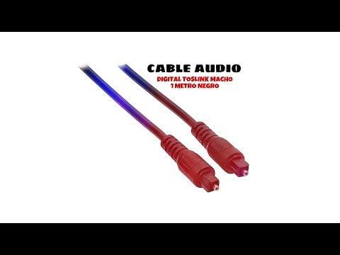 Video de Cable audio digital toslink macho 1 M Negro