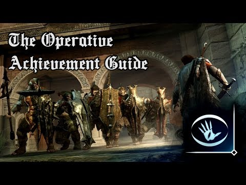 The Operative - Middle-Earth: Shadow of War Achievement Guide