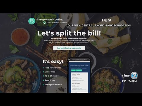 Central Pacific Bank will pay 50% of your take-out order