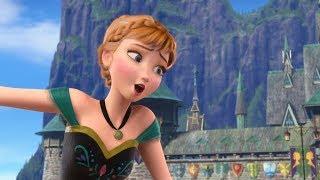 Disney Princess Frozen Anna Elsa Puzzle Games video l KID TV