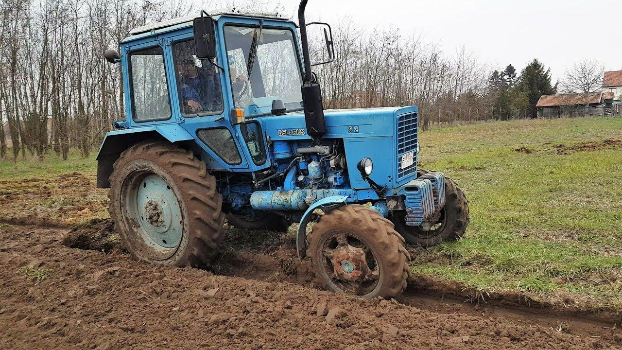 Mtz 82 plowing, Zetor soil smoothing tractors 2018