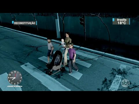 Carro de luxo em alta velocidade atropela família e mata mãe e filhos | SBT Brasil (30/06/18)
