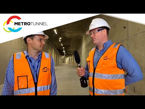 Tour the eastern tunnel entrance of the Metro Tunnel