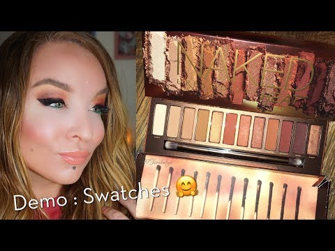 Urban Decay Naked Heat Eyeshadow Palette : Review : Demo: Swatches