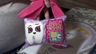 HOW TO: Lovely Leaf Applique In-The-Hoop Tooth Fairy Pillow Tutorial