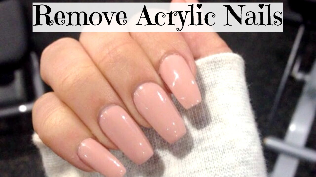 how to get rid of acrylic nails at home