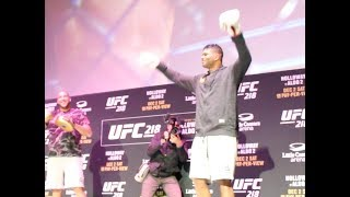 UFC 218 Open Workouts: Alistair Overeem Workout Highlights