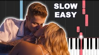 Dan Shay, Justin Bieber - 10000 Hours (SLOW EASY PIANO TUTORIAL)