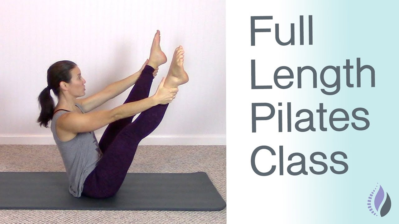 Full Length Pilates Mat Class Pilates Workout At Home With No Equipment 1 Hour Pilates Class Youtube