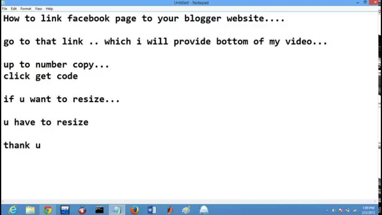 how to add facebook page link to website