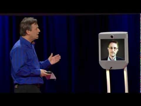 Edward Snowden via Beam Robot @ TED2014