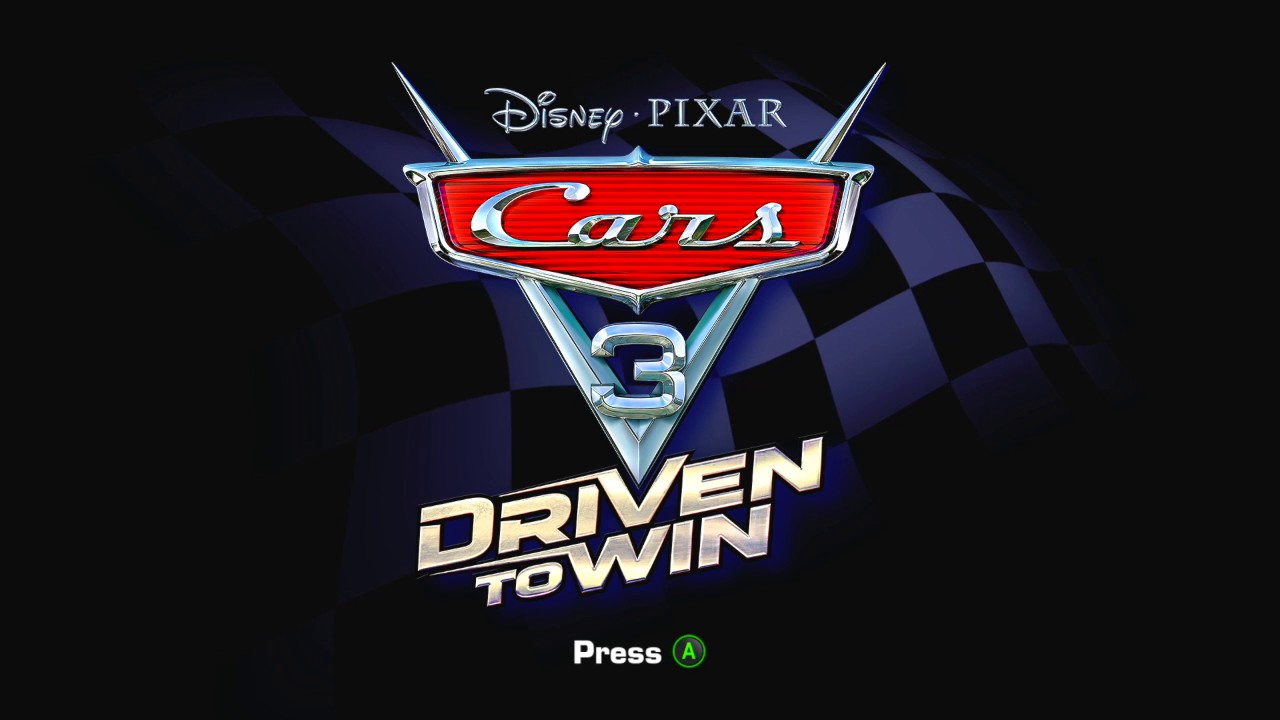 cars 3 driven to win title screen x360 ps3 wii u x1. Black Bedroom Furniture Sets. Home Design Ideas