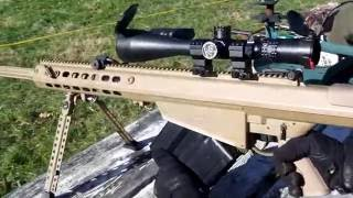 Barret M107 50 Cal BMG QDL Suppressed with Subsonic Ammo QUIET