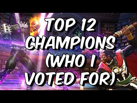 Top 12 Champions Poll - Who I Voted For - Marvel Contest Of Champions