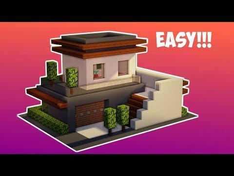 Download Minecraft Tutorial Cara Membuat Rumah Kecil Modern 11