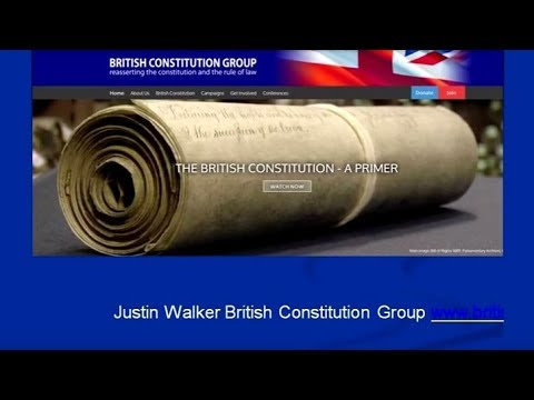 Justin Walker - The British Constitution Group