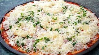 Пицца из дрожжевого теста в духовке.