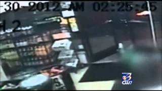 SHOCK VIDEO: Customers casually step over dead body in store doorway after he