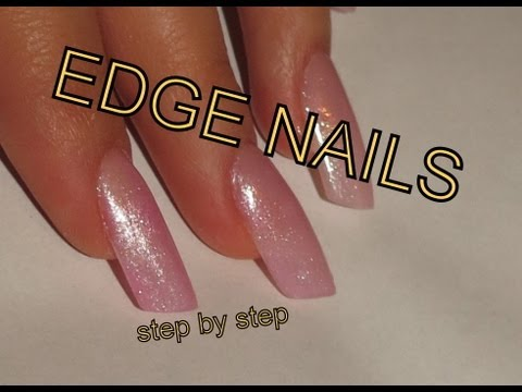 Edge Nails Step By Gel Tutorial Using Nail Tips