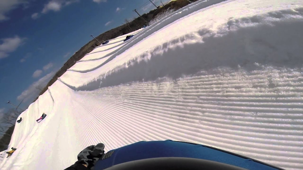 snow tubing at blue mountain in palmerton, pa - youtube