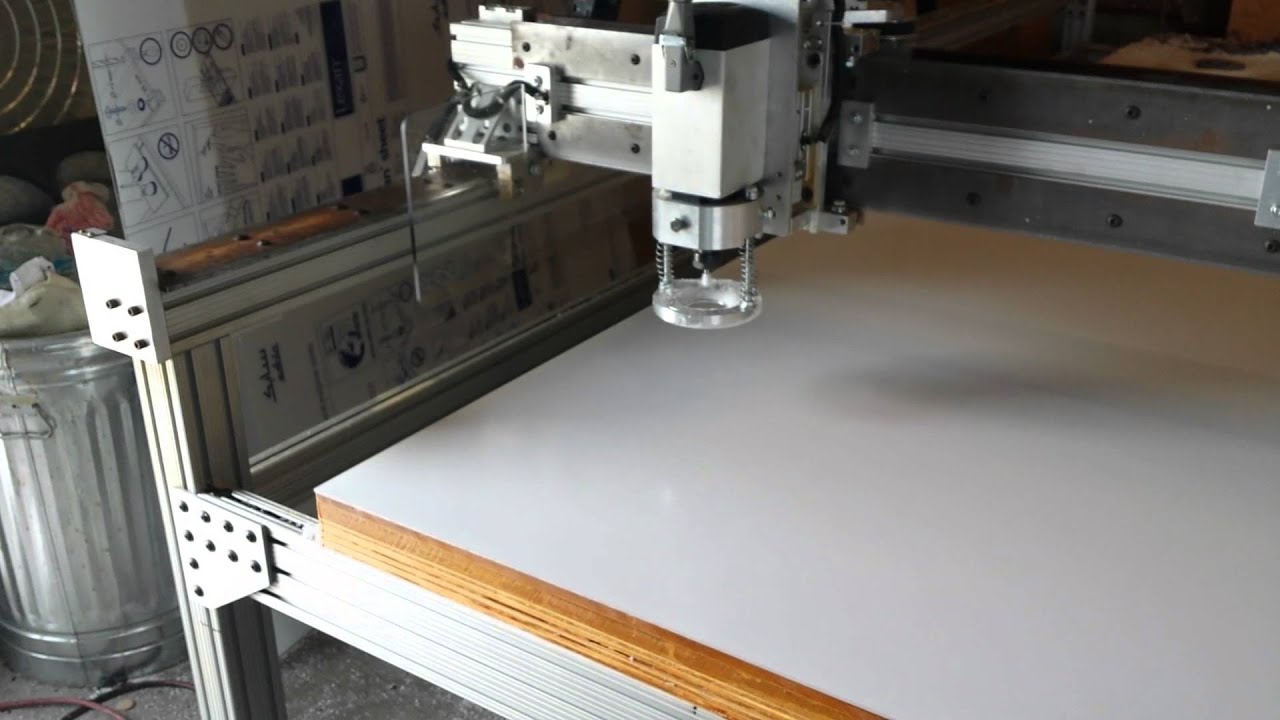 Diy crp based 6 x 11 cnc router machining acrylic plexiglas diy crp based 6 x 11 cnc router machining acrylic plexiglas using pressure plate youtube greentooth Gallery