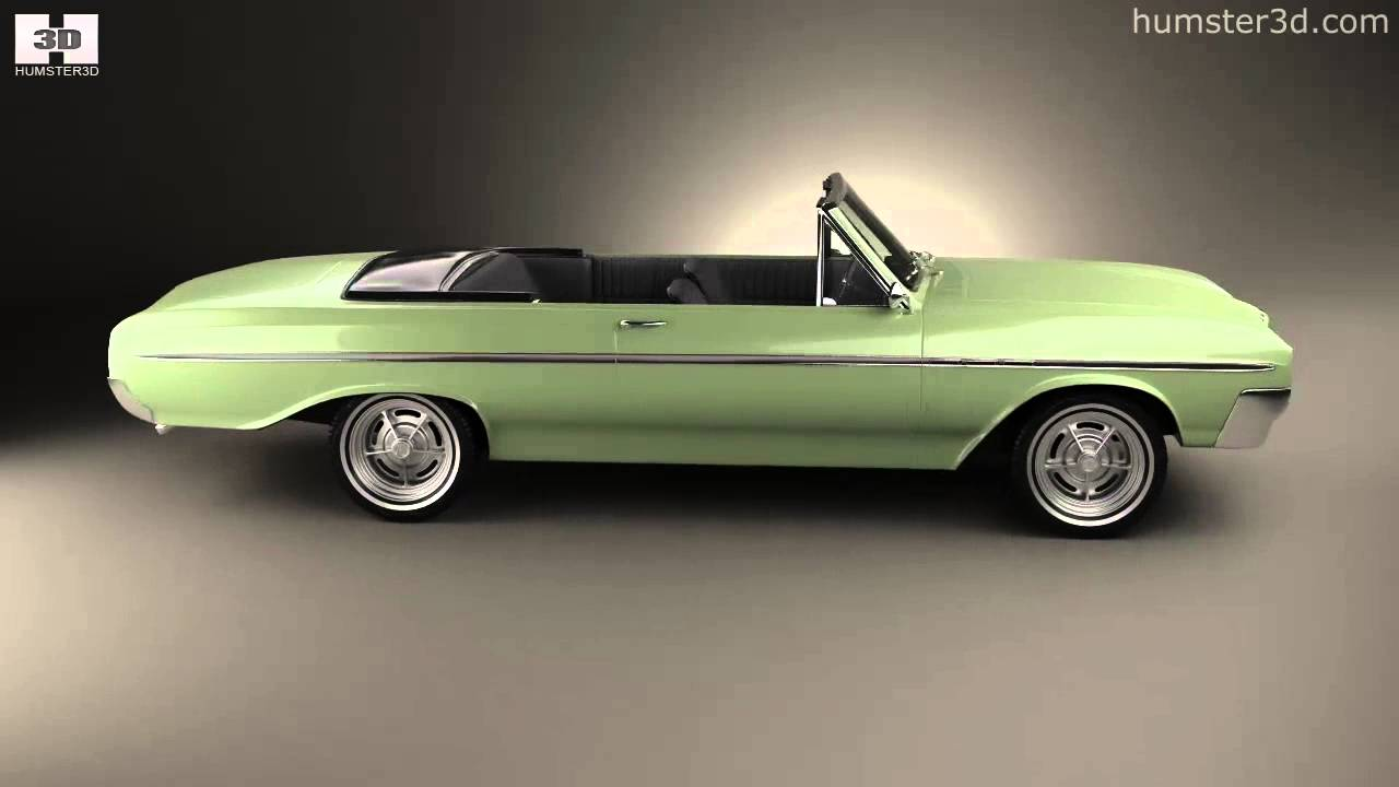 Buick Skylark Convertible 1964 By 3d Model Store Humster3d