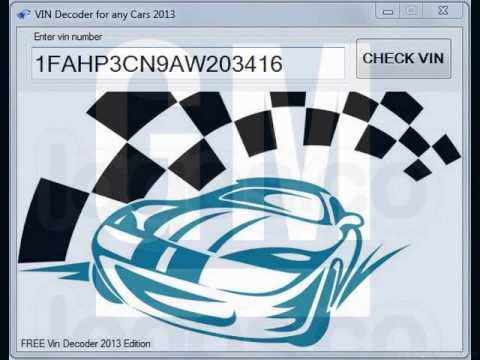 Vin Decoder GM Cars Free Download 2013 Edition