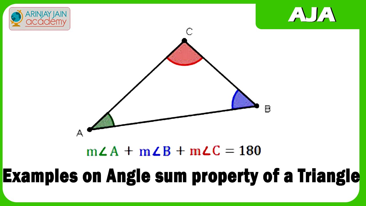 Examples On Angle Sum Property Of A Triangle Youtube