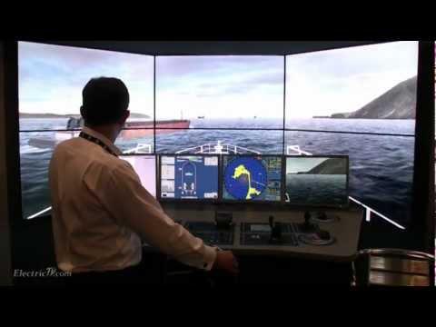 Virtual Reality Ships bridge training simulator demo by Kongsberg Maritime