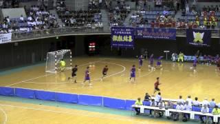法政二高 VS 大分雄城台 後半戦 2014年 南関東総体 ハンドボール選手権大会