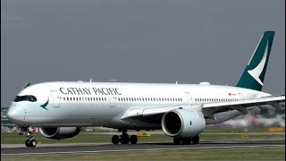 Cathay Pacific Airbus A350-900 Departure at Manchester Airport