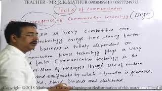 Emergence of communication technology   Tools of communication   Business Communication   Mathur Sir