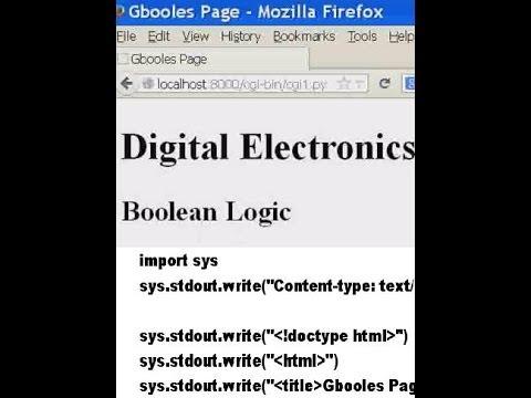 Python CGI Server  Made simple