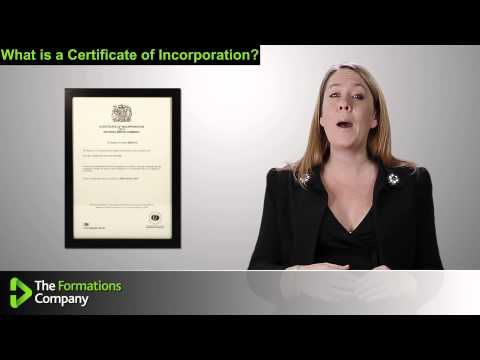 What is a Certificate of Incorporation?